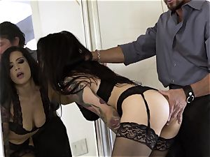 Nylons Sn 3 scorching Katrina Jade ravaged doggy-style in stockings