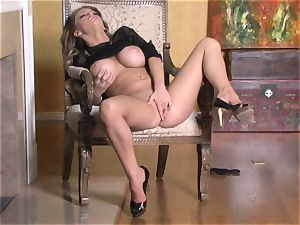 steaming Jenna Presley playing with her fleshy rosy raw gash until she ejaculates
