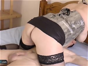 AGEDLOVE light-haired mature Lacey starlet