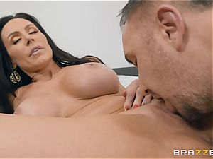 aged dark-haired bombshell Kendra eagerness riding manstick