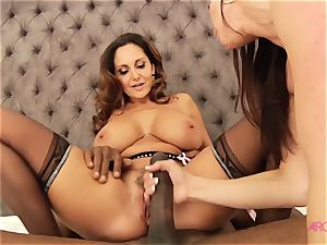 milf three-way with blacks. huge-boobed gals prepared for hardcore