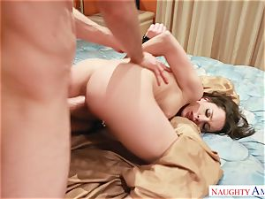 Nikita Bellucci riding stiff on top