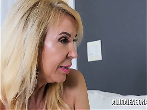 Erica Lauren and Alura Jenson vag plowing three