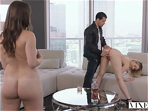 VIXEN crazy secretary Can't Hold Back Anymore In incredible threeway