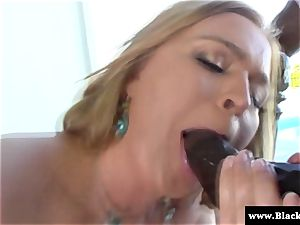 huge-chested Krissy Lynn deep throating bbc outdoors in the sun