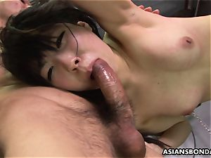 Roughed up chinese nubile getting hammered by the folks
