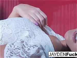 Jayden Jaymes Gets nasty Against a crimson Wall