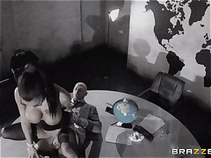 huge titted Peta Jensen humped via the boardroom table