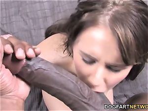 puny Kelly Klass enjoys black fuck-stick