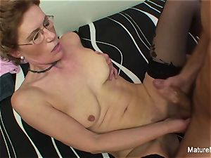 Mature breezy with glasses likes getting fucked