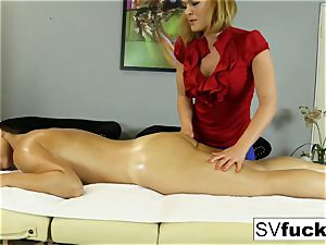 Sarah Vandella girl-on-girl massage