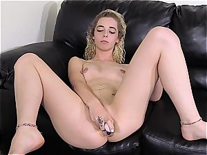 tattooed first-timer platinum-blonde gonzo screwed on a casting