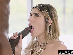 Arab gal Audrey Charlize enjoys the taste of a bbc