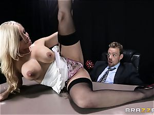 filthy chief is given a poundable ass fucking fantasy by Britney Amber