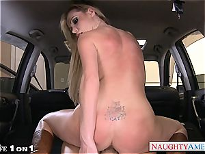 big-boobed housewife Nikki Benz take meatpipe in pov