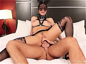 huge-chested ash-blonde Nicole is predominated
