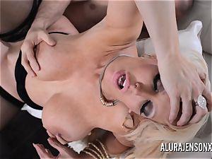 buxom blond Alura Jenson likes a boy in uniform