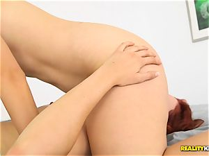 Minge tonguing wild lesbians Kimberly Kane and Jayden Cole messing with their vulvas