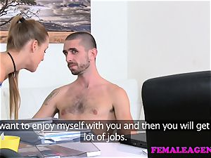 FemaleAgent humungous jizz flow frosts agents pussy