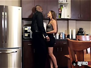 stunner Amirah Adara facialized after interracial dicking