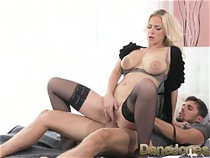 Dane Jones ample cupcakes light-haired in tights and stilettos