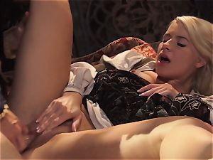 steaming princess Anikka Albrite awoken with a pulverize