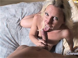 Devon Lee is luving her man's cane stuffed in her yummy facehole