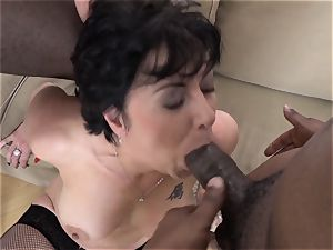 hotwife teaching Wathcing wifey have first multiracial