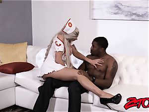 beauty Nina Elle nursing bbc with cunt and oral job