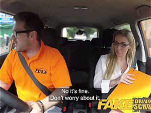 faux Driving school Georgie Lyall Off Duty hook-up