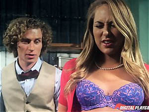 Carter Cruise nailed rock hard over the table
