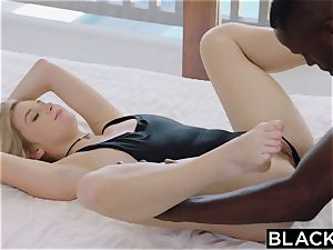 BLACKED.com platinum-blonde Gets first big black cock from Brothers acquaintance