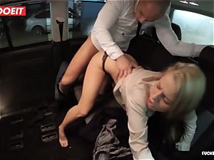 LETSDOEIT - red-hot blondie entices and bangs Uber Driver