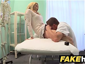 faux clinic filthy medic gives light-haired Czech babe