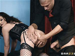 Smoking sizzling Jessica Rex in undergarments