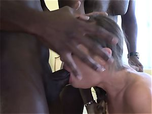 ass fucking going knuckle deep ravage stunner slit booty drilled by ebony fellows
