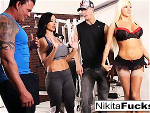 Nikita Von James joins a exercise fuck-a-thon