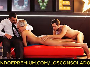 LOS CONSOLADORES - brilliant blondies sixty-nine in group lovemaking