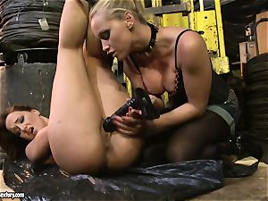 Andy chocolate-colored and Kathia Nobili arse dildoing rock-hard