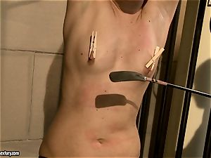 Kathia Nobili smack a stellar babe in the booty