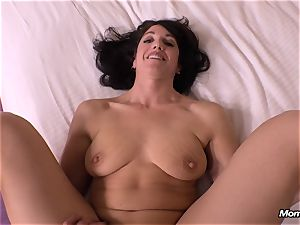 innocent black-haired milf cuckold internal cumshot wish