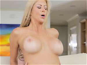 Alexis Fawx jerks her daughters bf
