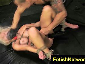 FetishNetwork Bibi Miami busty corded fuck-a-thon