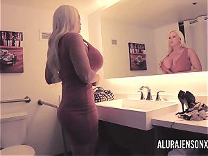 massive titty blond Alura Jenson boinking a nervous customer