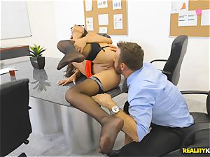 Office tear up with the assistant Aubrey Rose who happens to be the bosses daughter