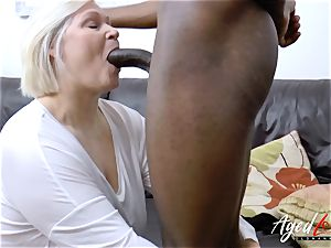 AgedLovE Lacey Starr gets multiracial gonzo