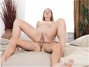 first anal romp movie for tiny boob sweetheart Rita Milan