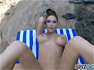 Beach rump Jessica Jaymes screwed deep in her mind-blowing clitoris twat