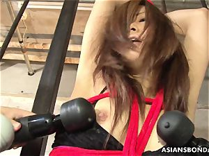 tied asian doll got her snatch played by wild deviants