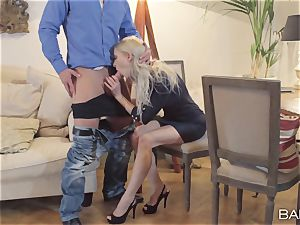 Uma Zex share her dude with another steaming blonde stunner